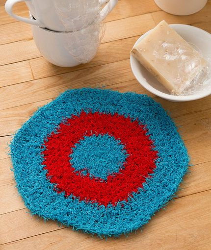Hexagon Crochet Dishcloth Free Pattern in Red Heart Yarns | For the ...