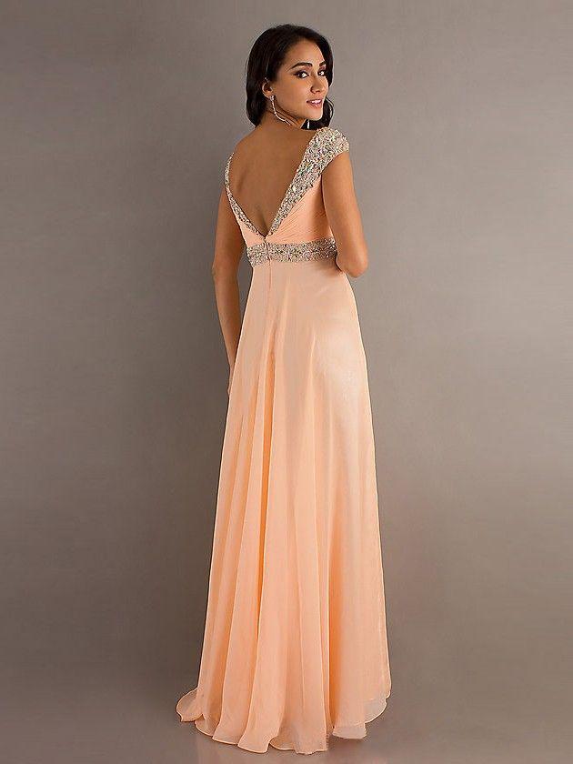 982eb8347 New Style A-line Straps Beading Sleeveless Floor-length Chiffon Prom Dress
