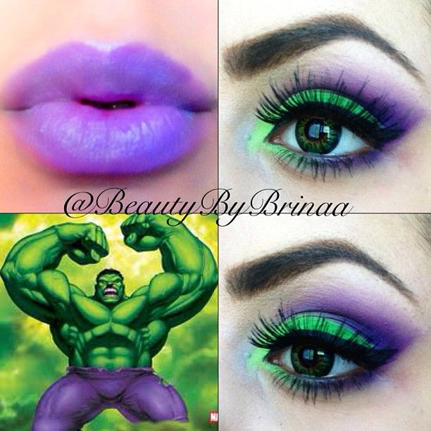 The Incredible Hulk Eye Art Superhero Makeup Hulk Birthday Incredible Hulk Costume
