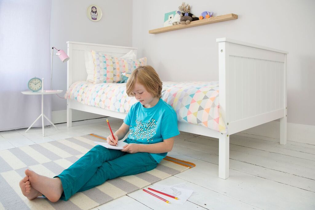 Single Bed Portland Contemporary Bed In White Kid Beds Bed Bed