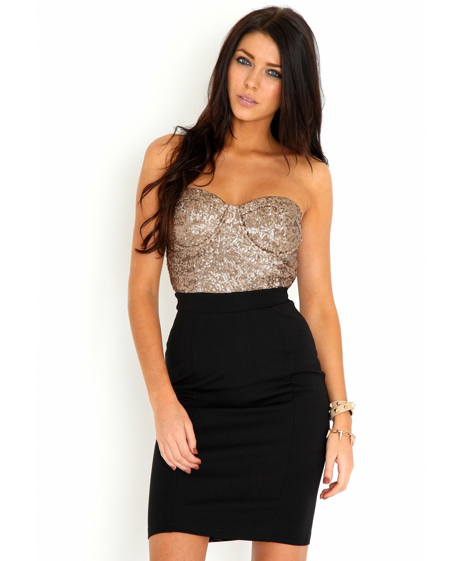 £28.99 Adalinda Premium Sequin Bust Dress-dresses-missguided