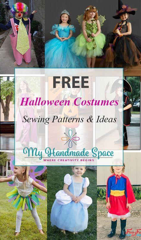 FREE Halloween Costumes Sewing Patterns | костими | Pinterest ...