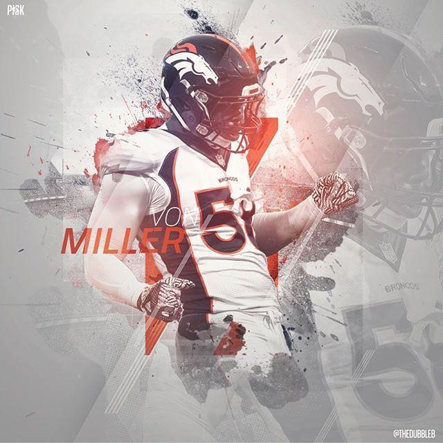 Close Up On A Von Miller Vonmiller Wallpaper For Pick 6 Go Broncos Sports Design Inspiration Von Miller