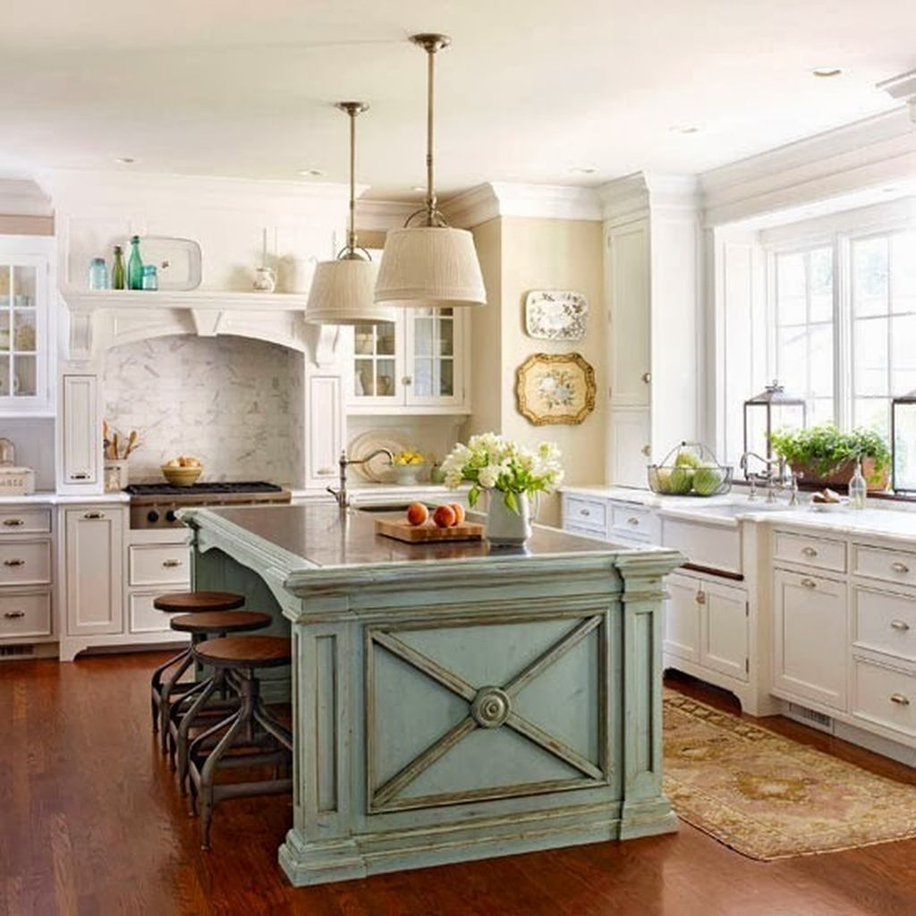 Nice modern french country kitchen decoration ideas for your home