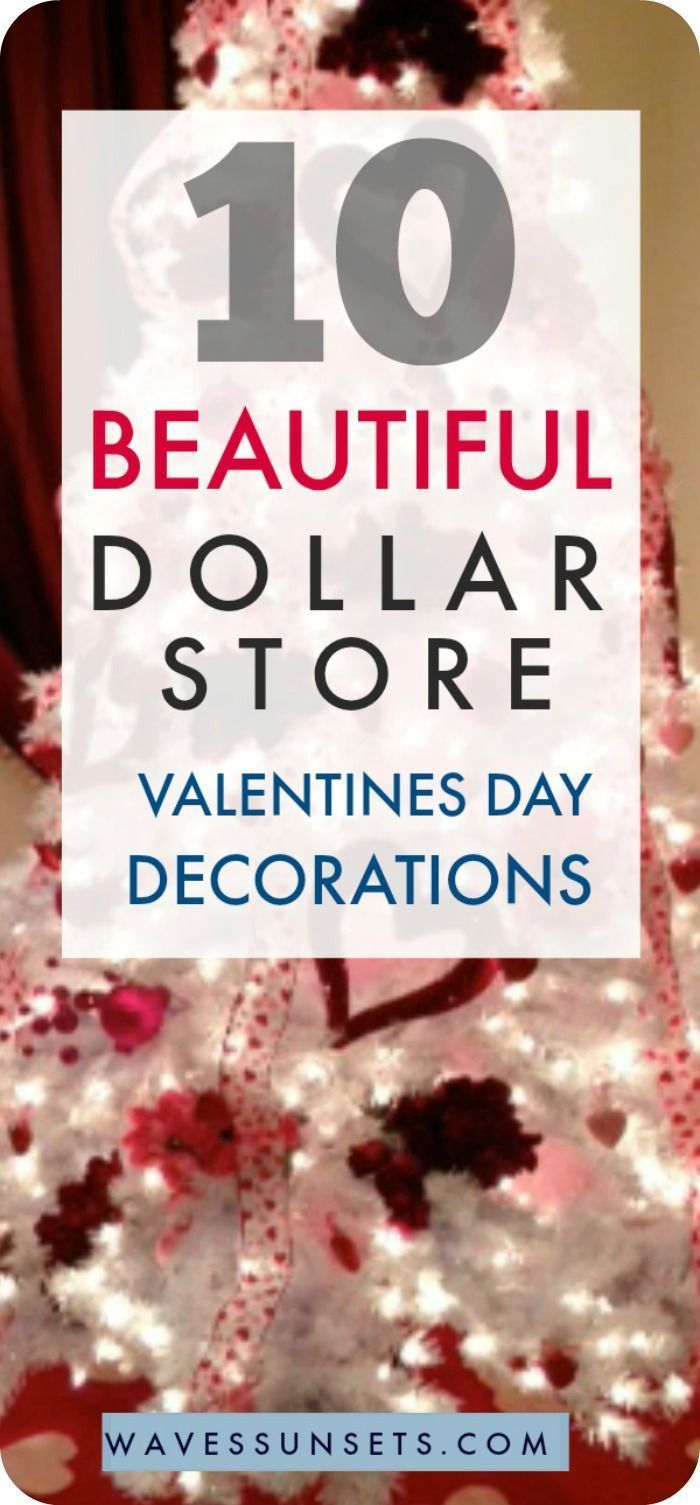Dollar Store Valentine's Decorations - Waves & Sunsets Dollar Store Valentine's Decorations - Waves