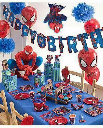 Spiderman Party Ideas Superhero Birthday Theme Avengers 6th