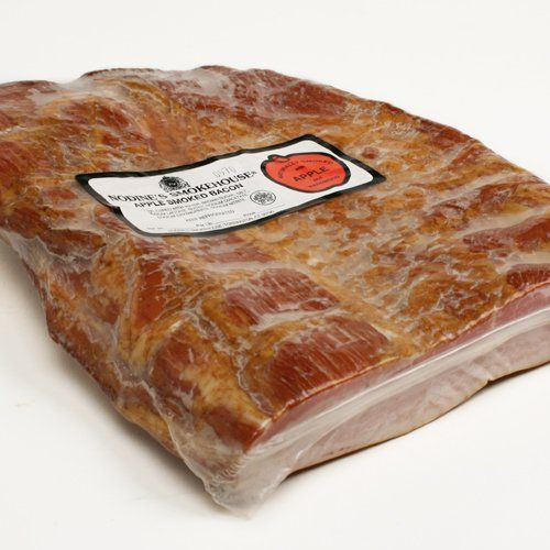 Nodines Applewood Smoked Bacon  Half Slab 4 pound *** Continue to the product at the image link.