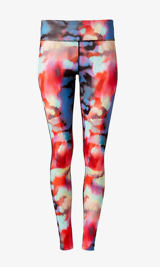 watercolor print EXP core compression legging