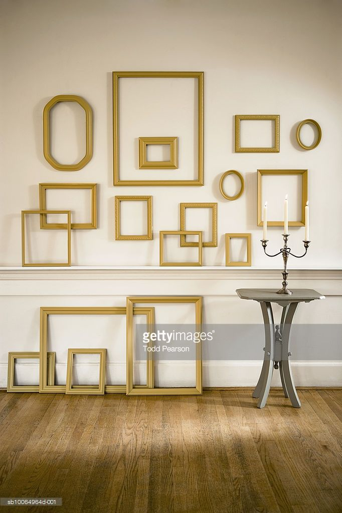 Empty Frames Hanging On Wall Frames On Wall Frame Wall Decor Decor