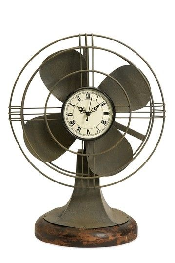vintage fan clock. Awesome