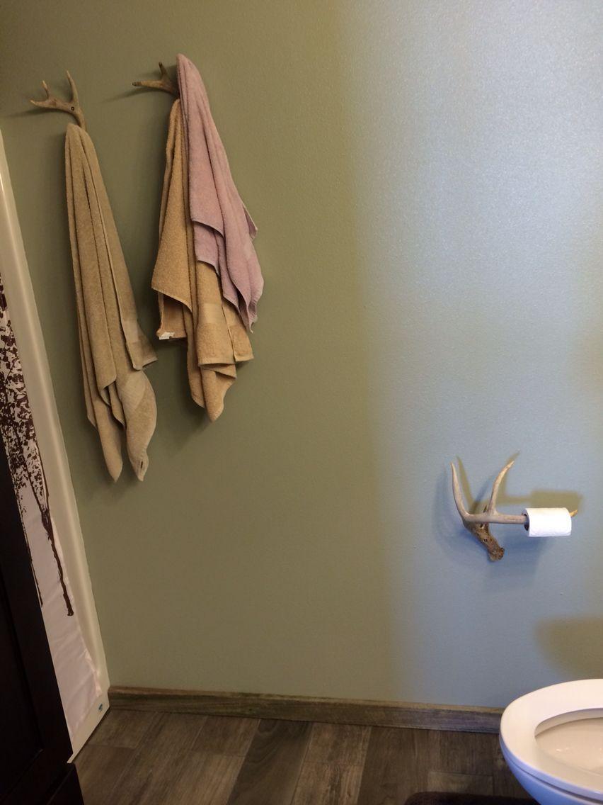Deer Antler Towel Holders And Toilet Paper Holder Towel Holder Bathroom Towel Holder Diy Painted Antlers