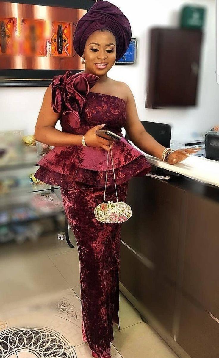 Fantastic 2020 Asoebi Styles Fashion Ruk Aso Ebi Styles African Fashion African Lace Dresses African Print Fashion Dresses