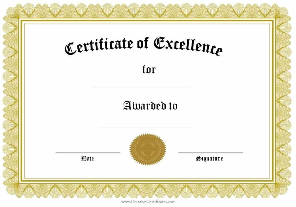 Awards And Certificates Templates Free Formal Award