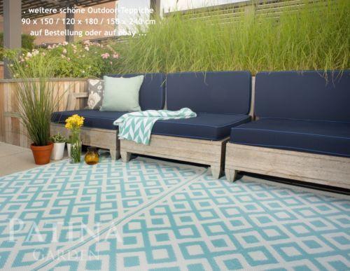 Details zu Outdoor Teppich, für außen + innen, Küche Bad - terrasse lounge mobeln einrichten