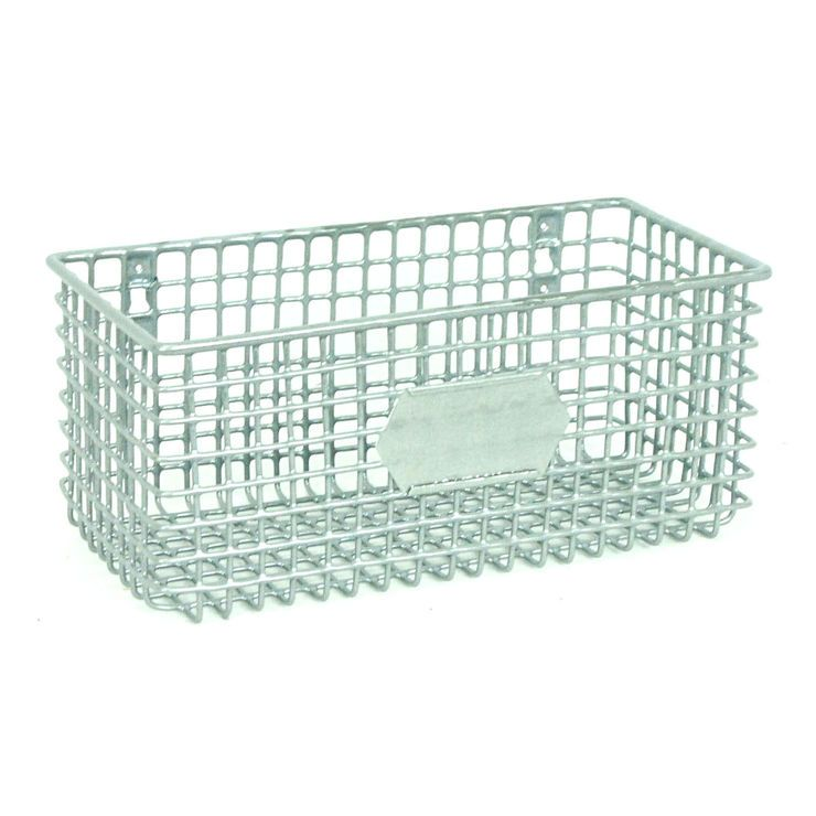 I must have this! Rectangular Metal Mesh Wall Basket - Silver ...