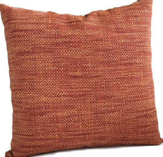Rust Outdoor Pillow Cover Rust Red Burnt Orange Throw Pillow Cushion Decorative Accent Pillow Patio Chair Pillow 20x20 22x22 24x24 Lumbar Outdoor Pillow Covers Outdoor Pillows Orange Throw Pillows