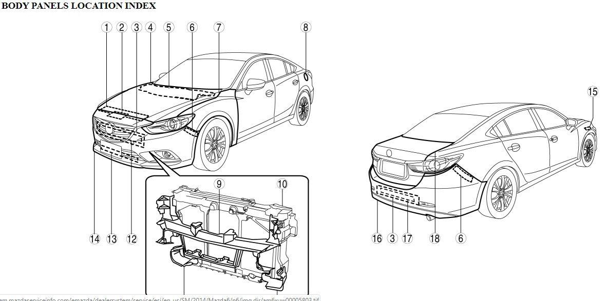 2014 2019 Mazda 6 Gj Service Repair Manual Wiring Diagram And Body Repair Manual Mazda 6 Mazda Repair Manuals