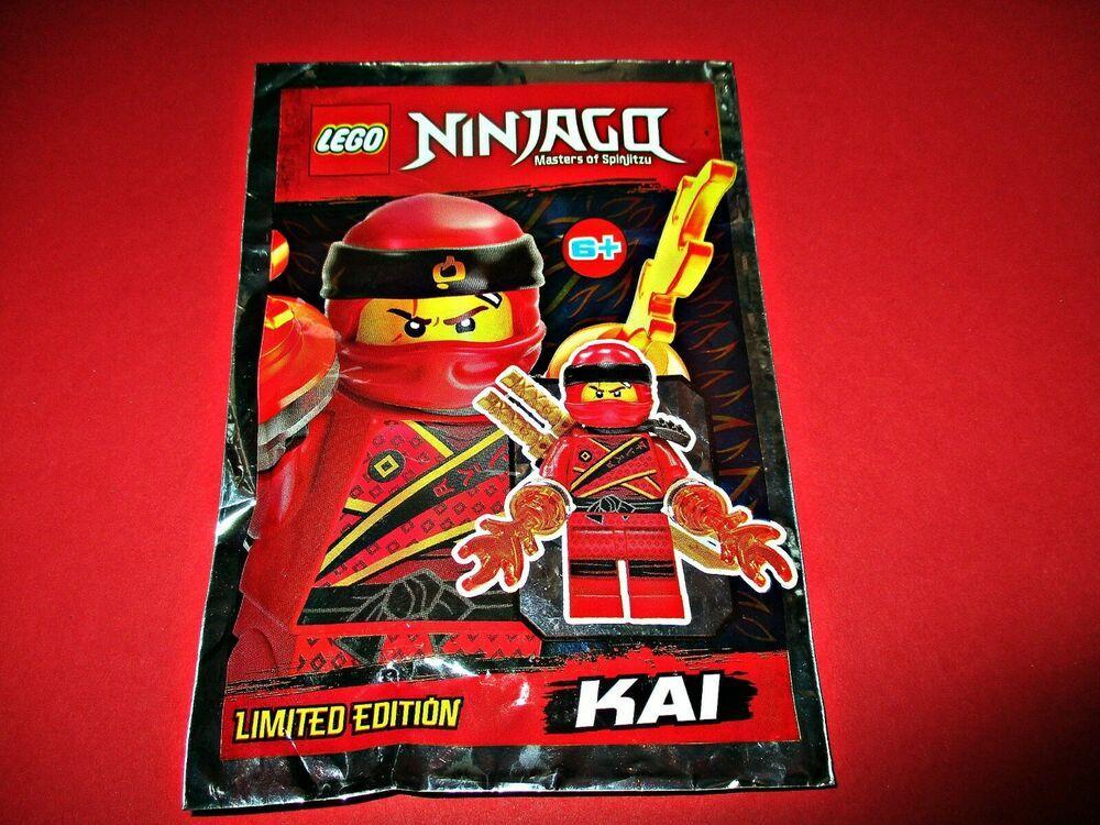 ORIGINAL LEGO NINJAGO LIMITED EDITION Minifigure Foil Kai Power of Fire 891842
