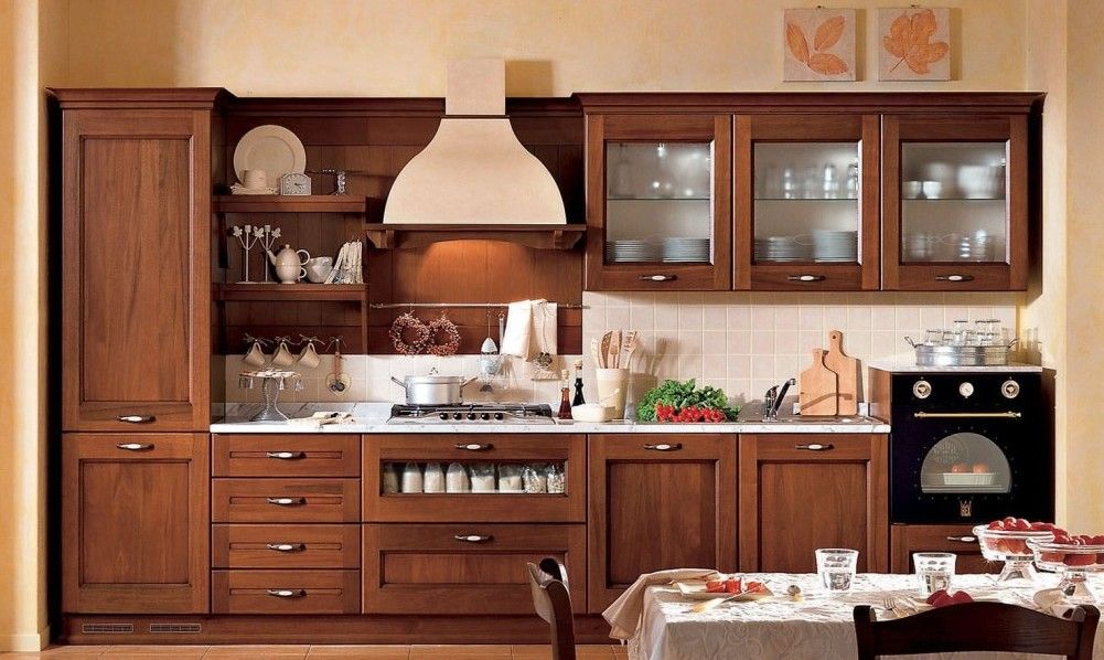 Muebles de cocina de madera de lujo de madera maciza - Muebles de cocina madera maciza ...