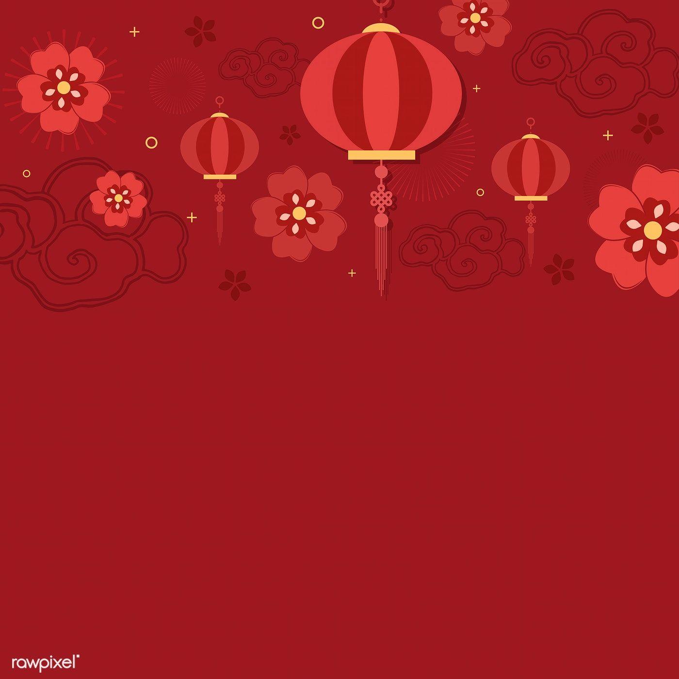 Chinese New Year 2019 Greeting Background Free Image By Rawpixel Com Kappy Kappy Chinese New Year Background New Years Background Chinese New Year