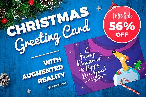 Christmas augmented reality card creativework247 cards christmas augmented reality card creativework247 m4hsunfo