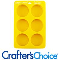1602 Basic Round Silicone Soap Mold Crafters Choice