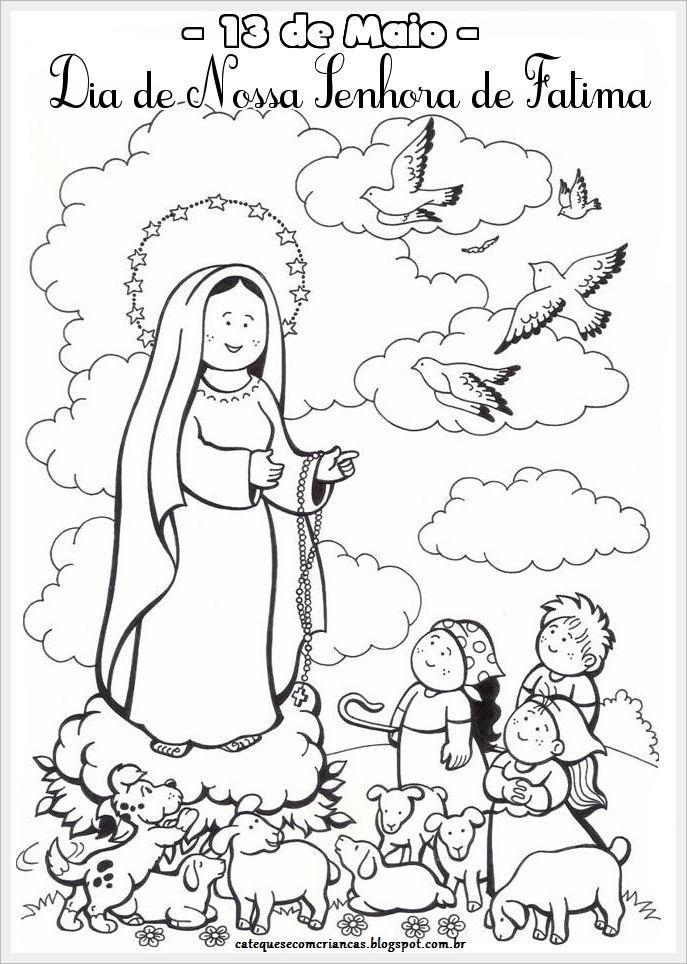 Dibujos Para Colorear Virgen Fatima Tattoo | Virgen de Fátima ...