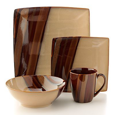 Dinnerware at Kohl\u0027s - Shop our selection of Sango dishes including this Sango Avanti Brown dinnerware set at Kohl\u0027s.  sc 1 st  Pinterest & Sango Avanti Brown 16-pc. Dinnerware Set | Products I Like ...