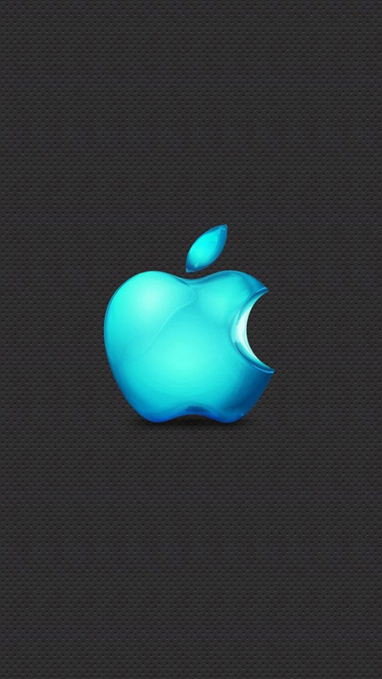 Blue Stereo Apple Logo Iphone 6 Wallpapers Apple Logo Wallpaper Iphone Iphone Colors Apple Logo Wallpaper