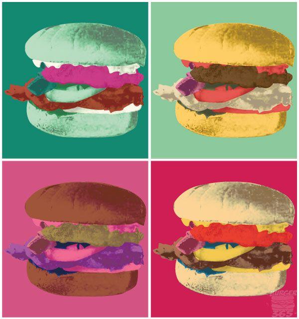 andywarholeverythingburger-wordpress-com.jpg (600×639)   Restaurantes,  Hamburguesas, Art pop