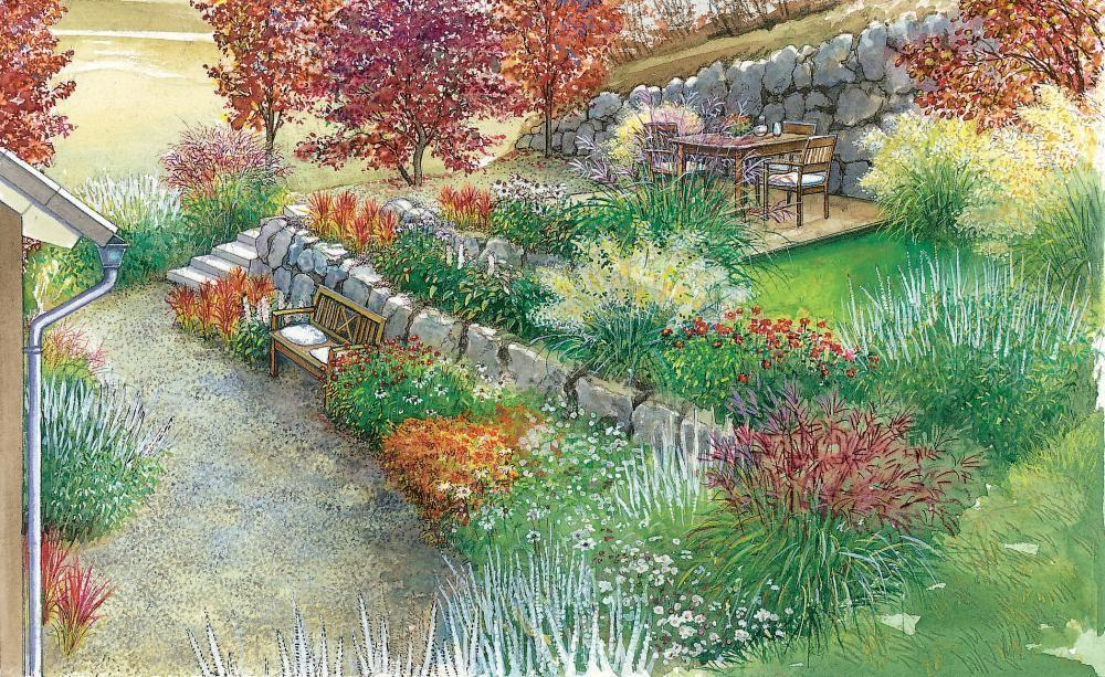 Gestaltungsideen für einen Hanggarten Landscaping