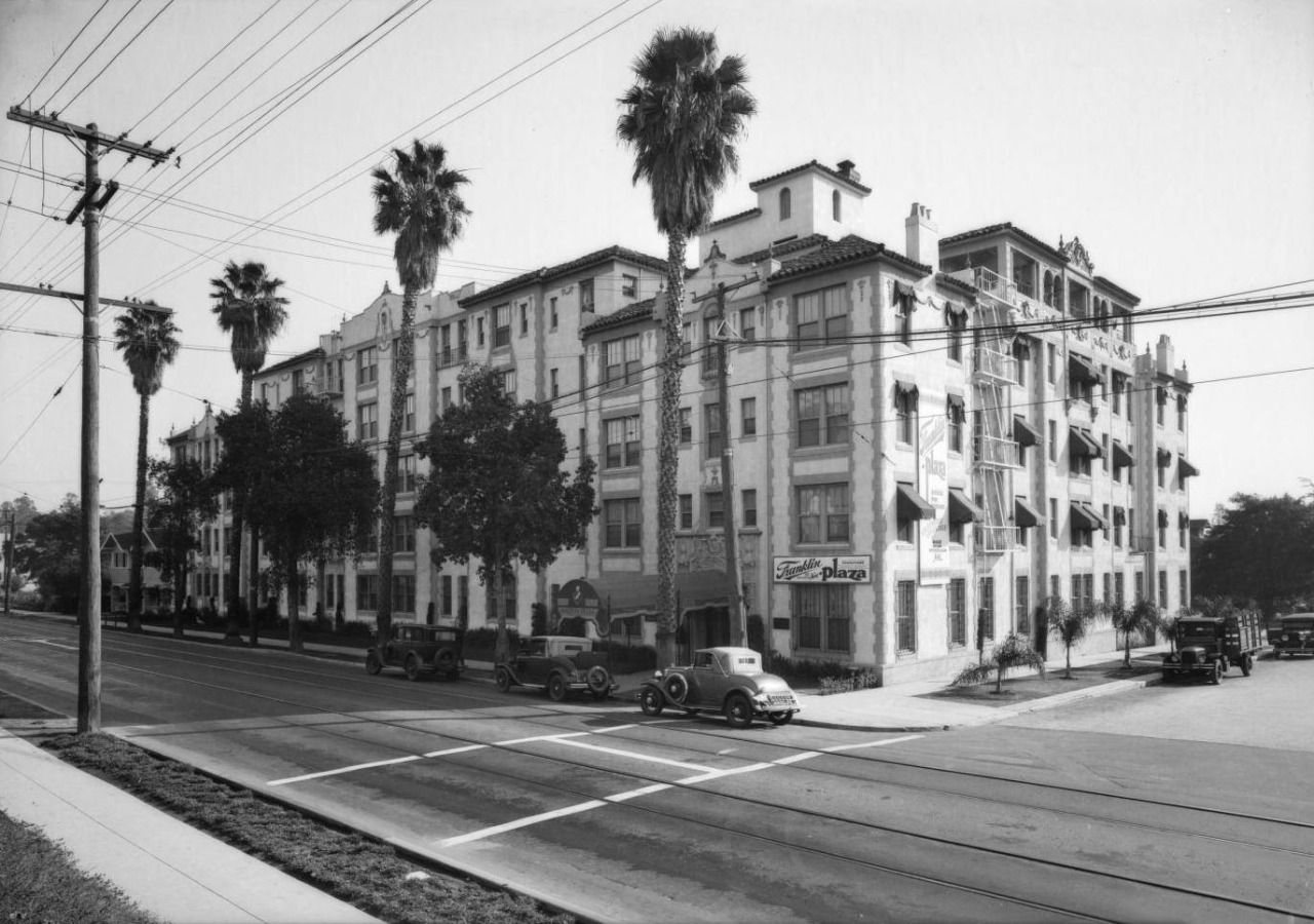 The Franklin Plaza Apartments At 5640 Avenue In Hollywood 1931 Though Now Refurbished And Earthquake Resistant Building Still Stands