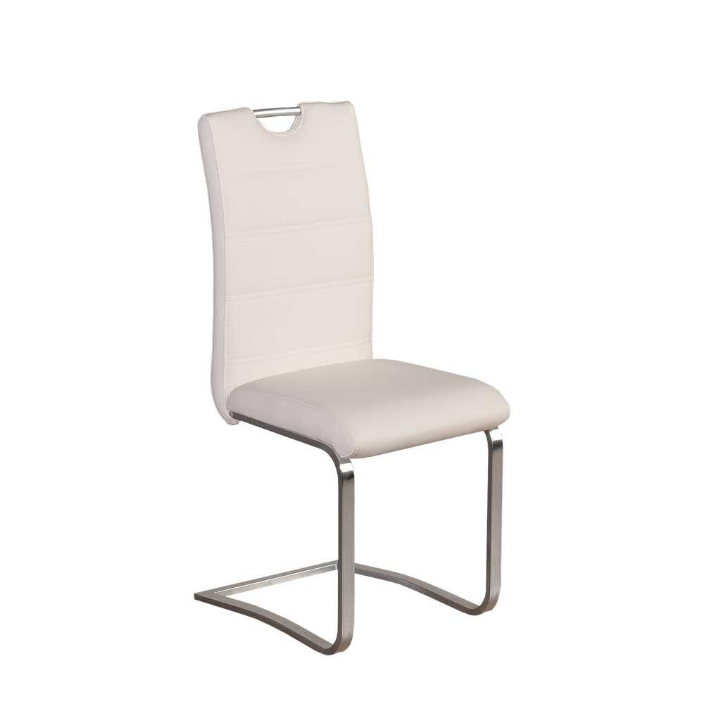 Freischwinger Stuhl mit Griff Weiß (2er Set) Jetzt bestellen unter ...