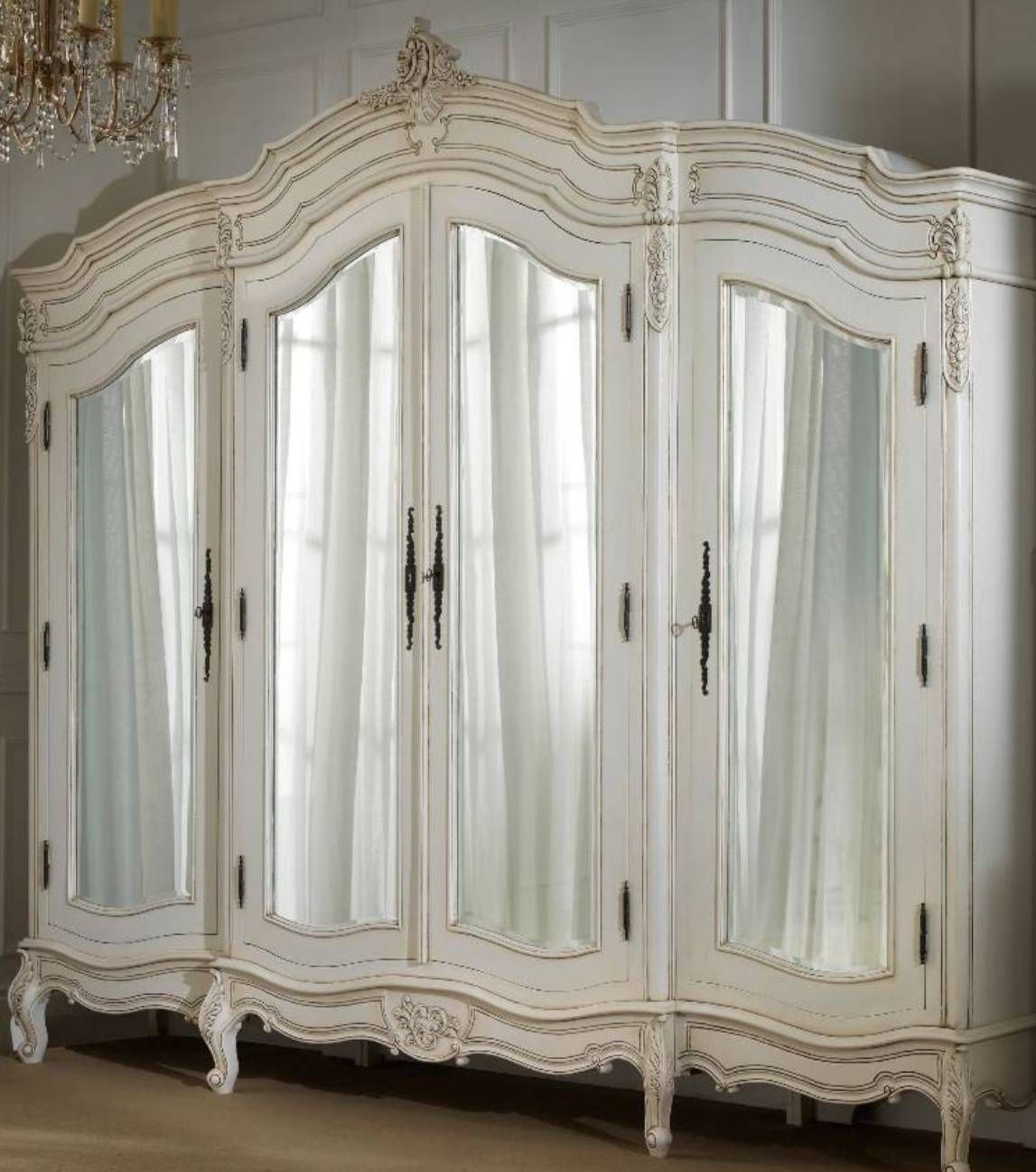 Ordinaire White French Armoire Wardrobe With Mirror : Beautiful French Armoire  Wardrobe , Furniture