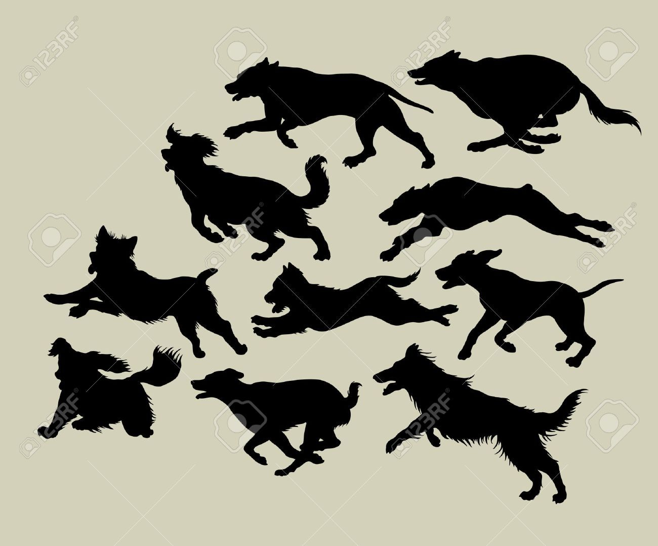 Running Dog Cliparts Stock Vector And Royalty Free Running Dog Illustrations Running Illustration Dog Illustration Running Silhouette