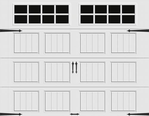 Ideal Door Carriage House 8 X 7 White Premium Insulated Garage