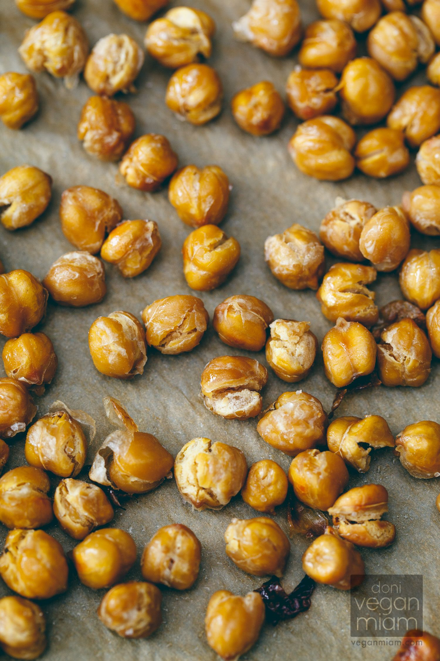 "#Vegan Salt & Vinegar Roasted Chickpeas from ""The @Angela Gray Gray Gray Gray Liddon Cookbook"" 