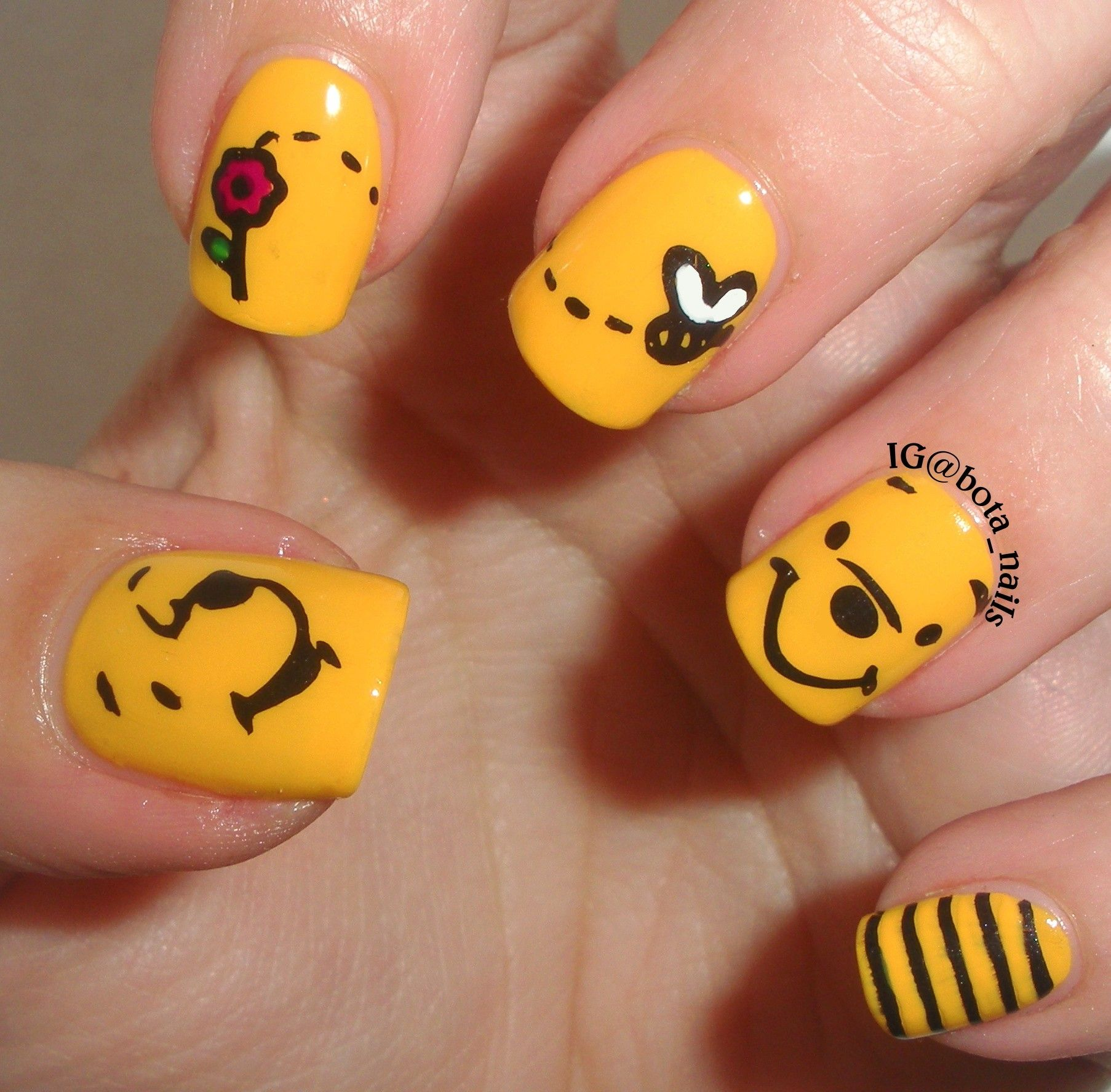 Tigger Nails: Winnie The Pooh Nails Stamped Nails Nail Art