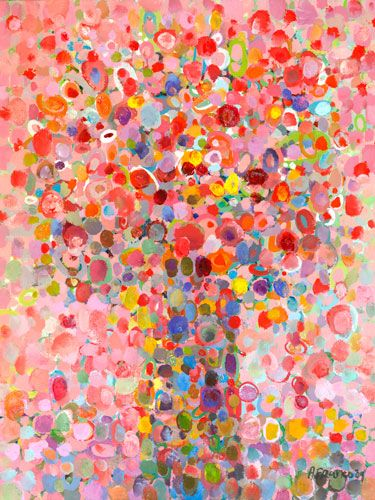 amazing kids art. so many colors and it still looks like a bouquet of flowers!