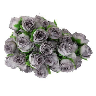 50pcs artificial silk rose fake flower heads bulk wedding decor grey 50pcs artificial silk rose fake flower heads bulk wedding decor grey mightylinksfo
