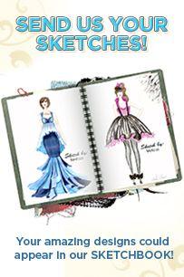 Fashion Sketch Class Learn How To Sketch Fashion In 12 Easy Steps Fashionclub Com Sketch Book Design Sketch Instagram Contest