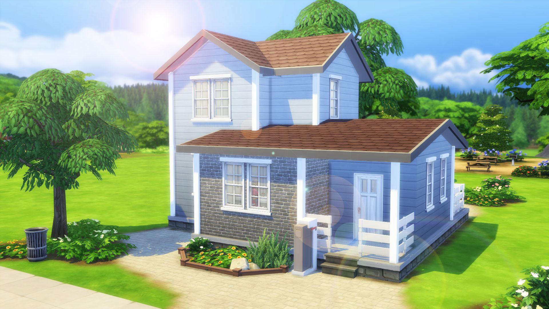 Oasis De Fraicheur Maison Sims Sims 4 Maison Sims