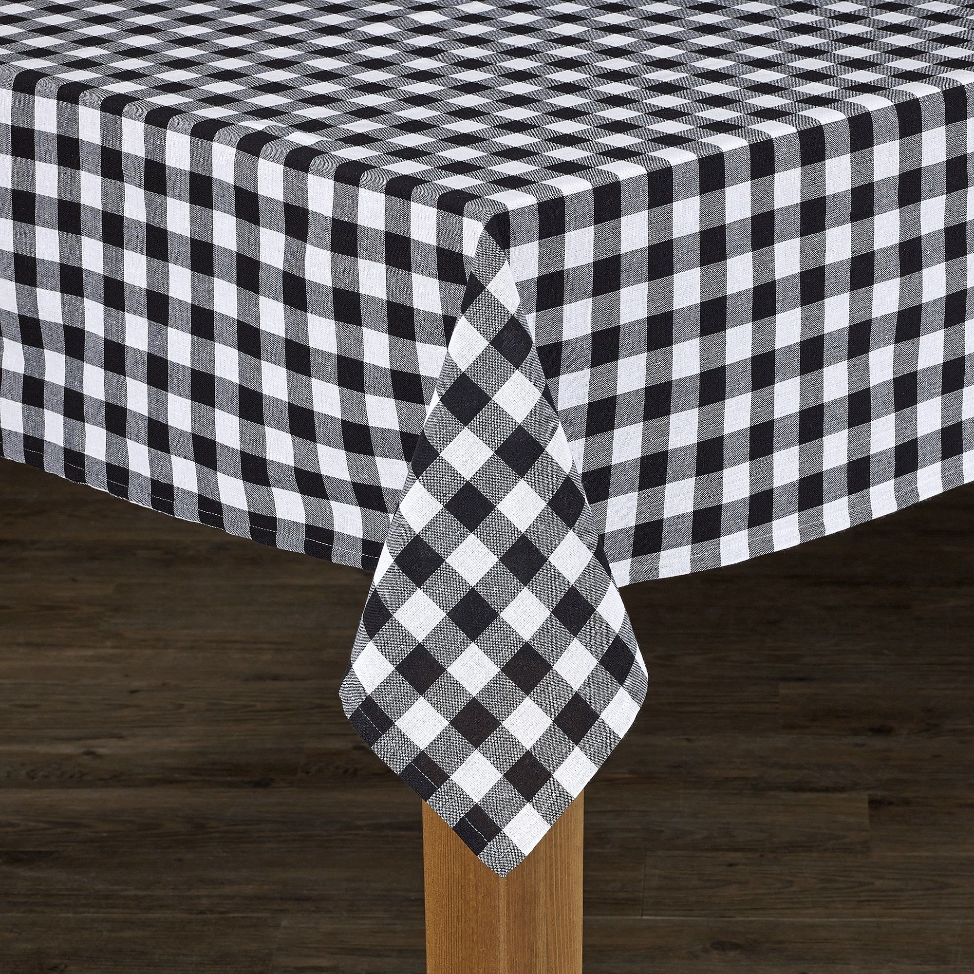 Conventry Black Buffalo Check 100 Cotton Tablecloth 52 X52 Walmart Com Table Cloth Buffalo Check Tablecloth Sizes