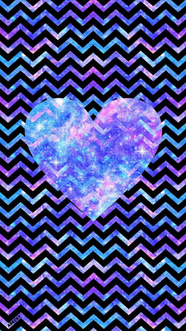 Galaxy Rainbow Heart And Stripes Heart Iphone Wallpaper Heart Wallpaper Animal Print Wallpaper