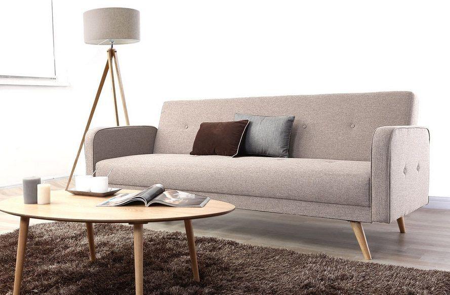 Sofá gris de estilo nórdico
