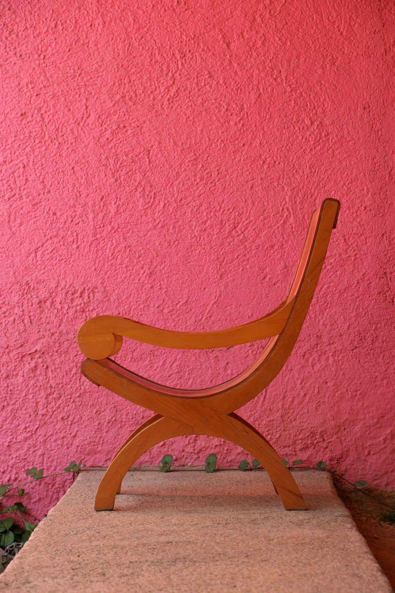 Luis barragan pair of butaque chairs from cuadra san - Muebles barragan ...