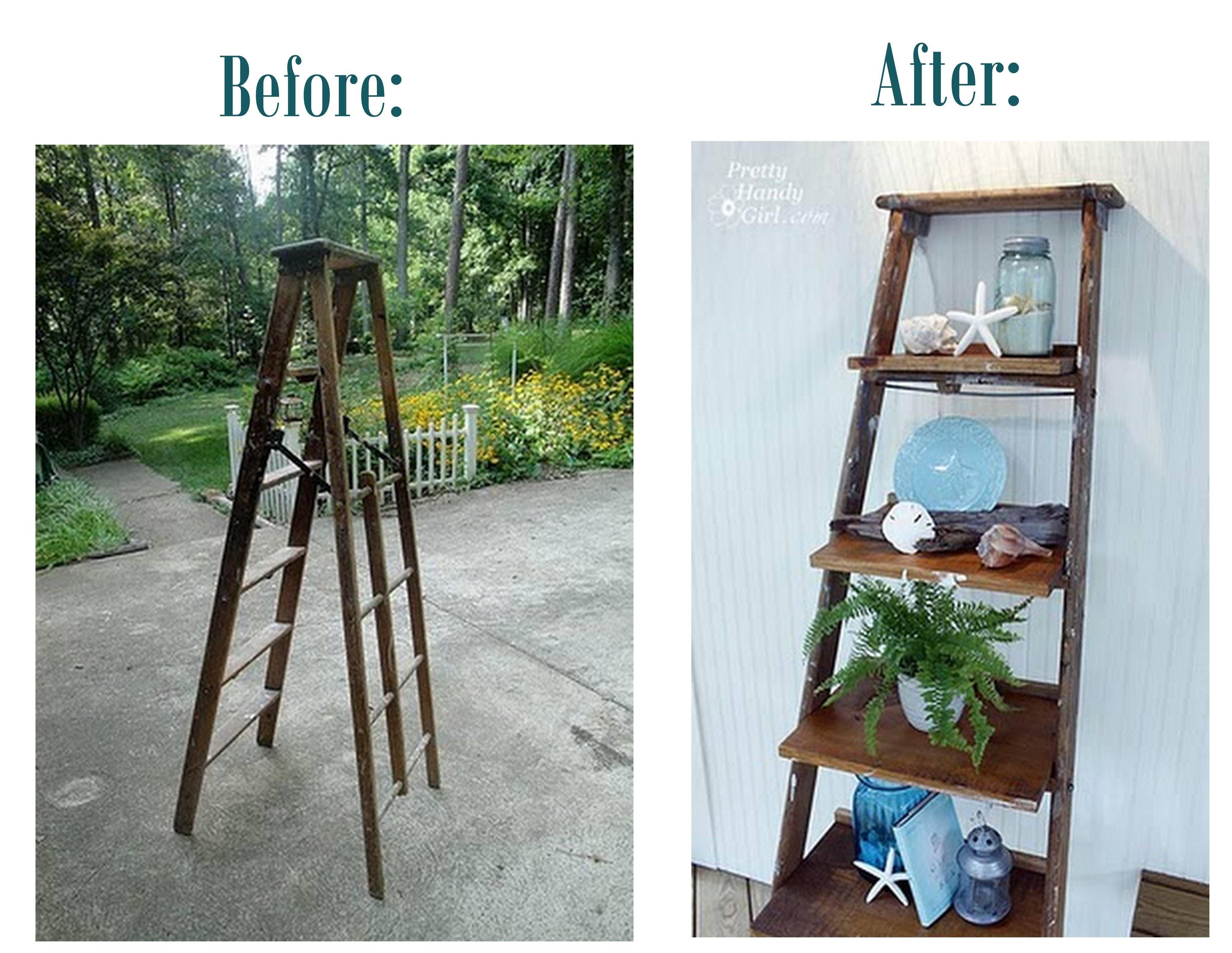 furniture ladder shelves. diy ladder shelves could make this white distressed so easily furniture d