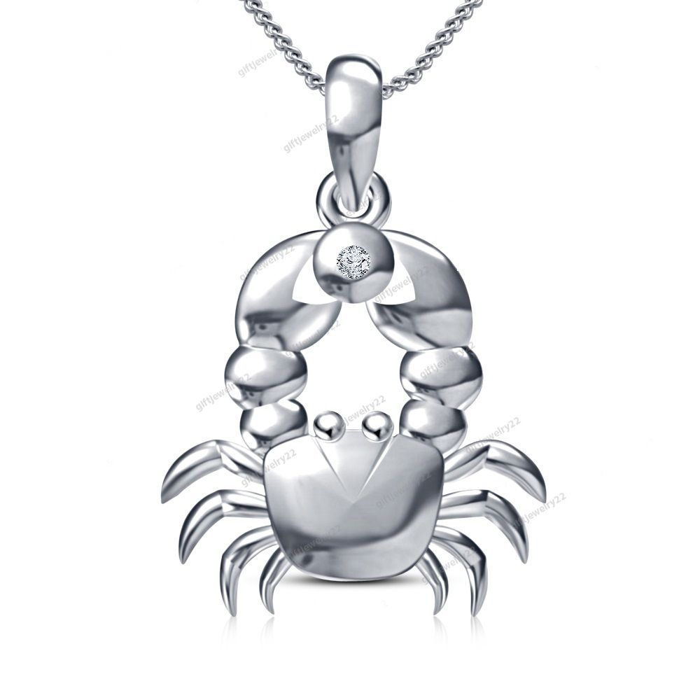 Special birthday gift round cut diamond gemini zodiac sign pendant
