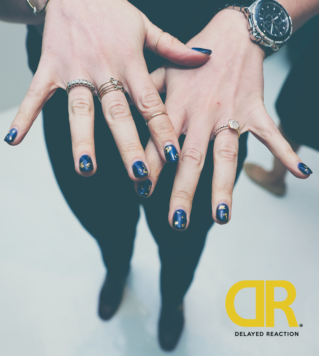 Creatively blue nail design! #nails #watch #blue #Rings #hand ...