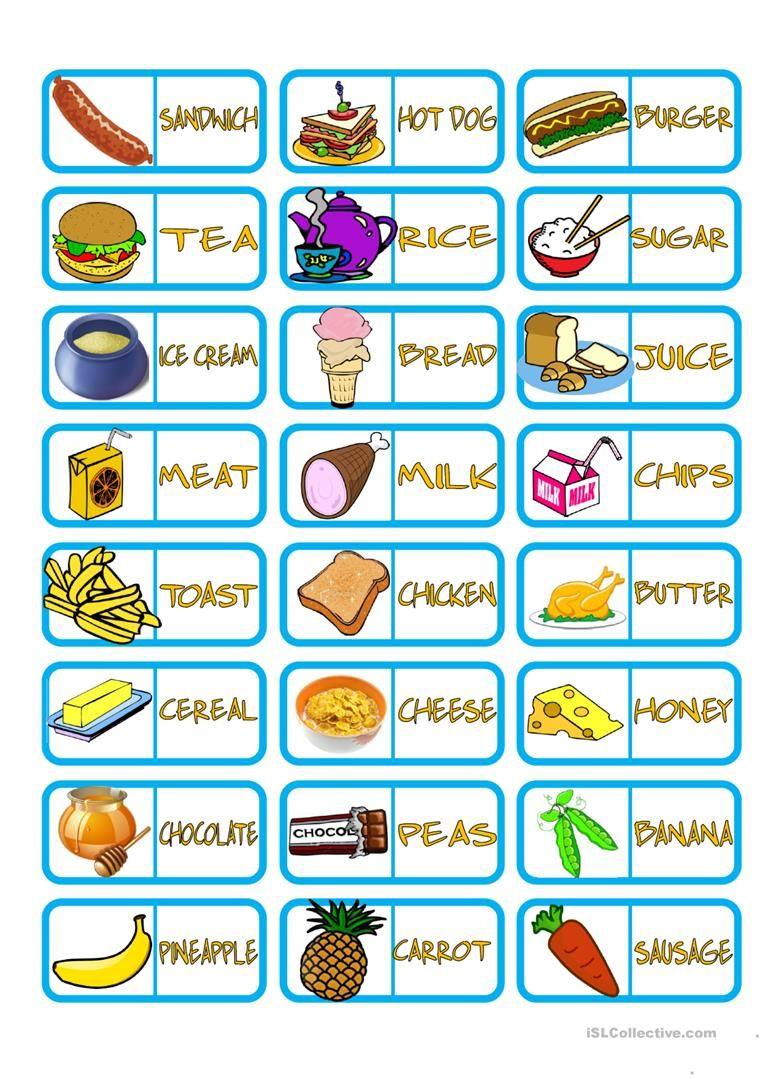 Food Domino worksheet - Free ESL printable worksheets made by ...